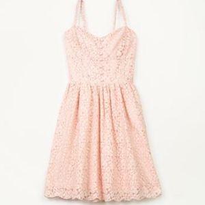 Aritzia Talula Pink Lace Debutante Mini Dress
